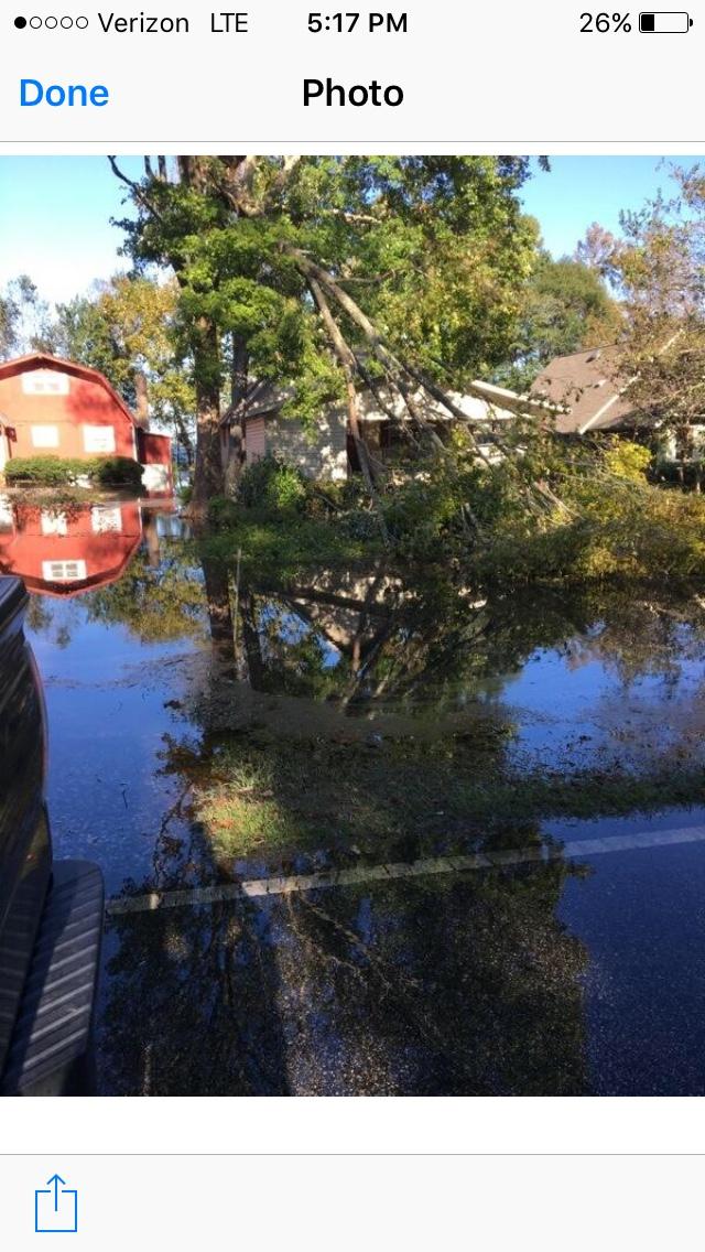 After flooding from Hurricane Matthew