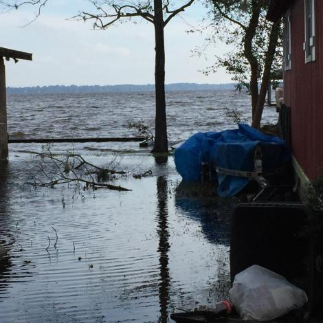 Lake Waccamaw rising